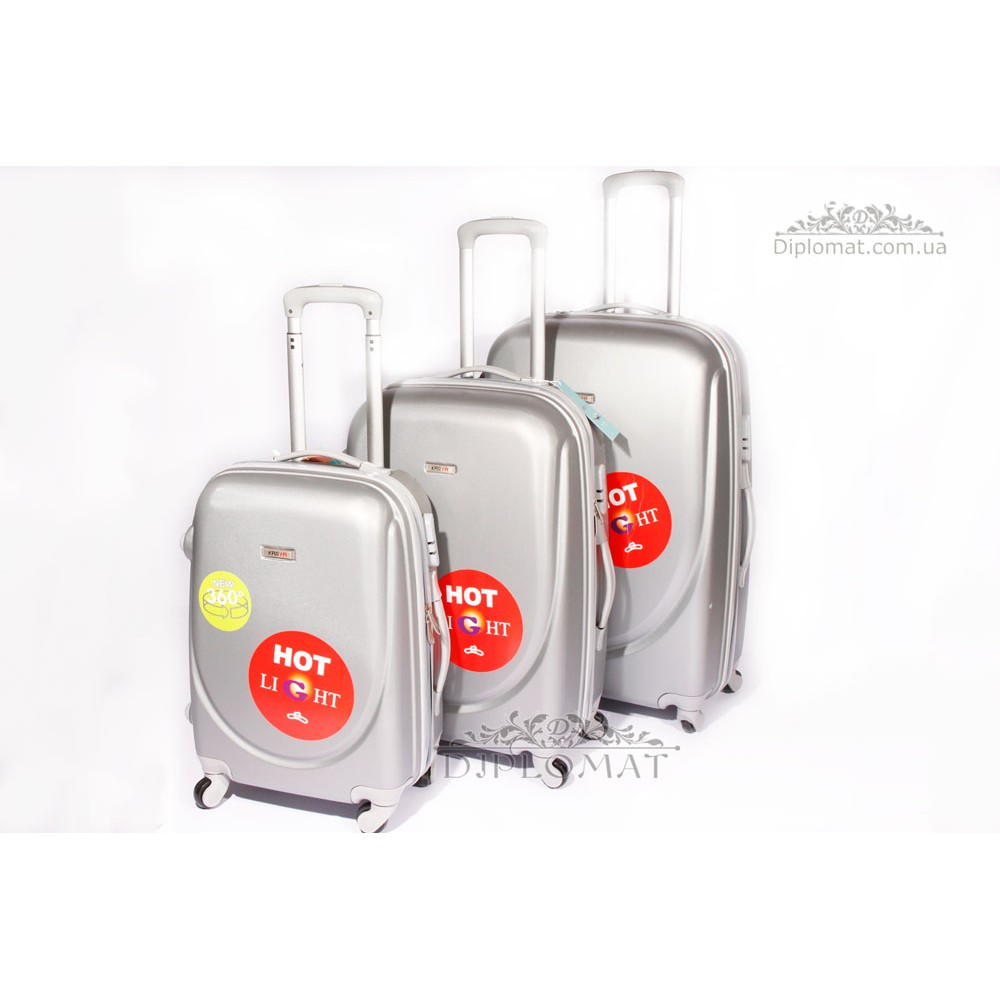 Чемодан дорожный KARYA Suitcase BIG PLASTIC GREY