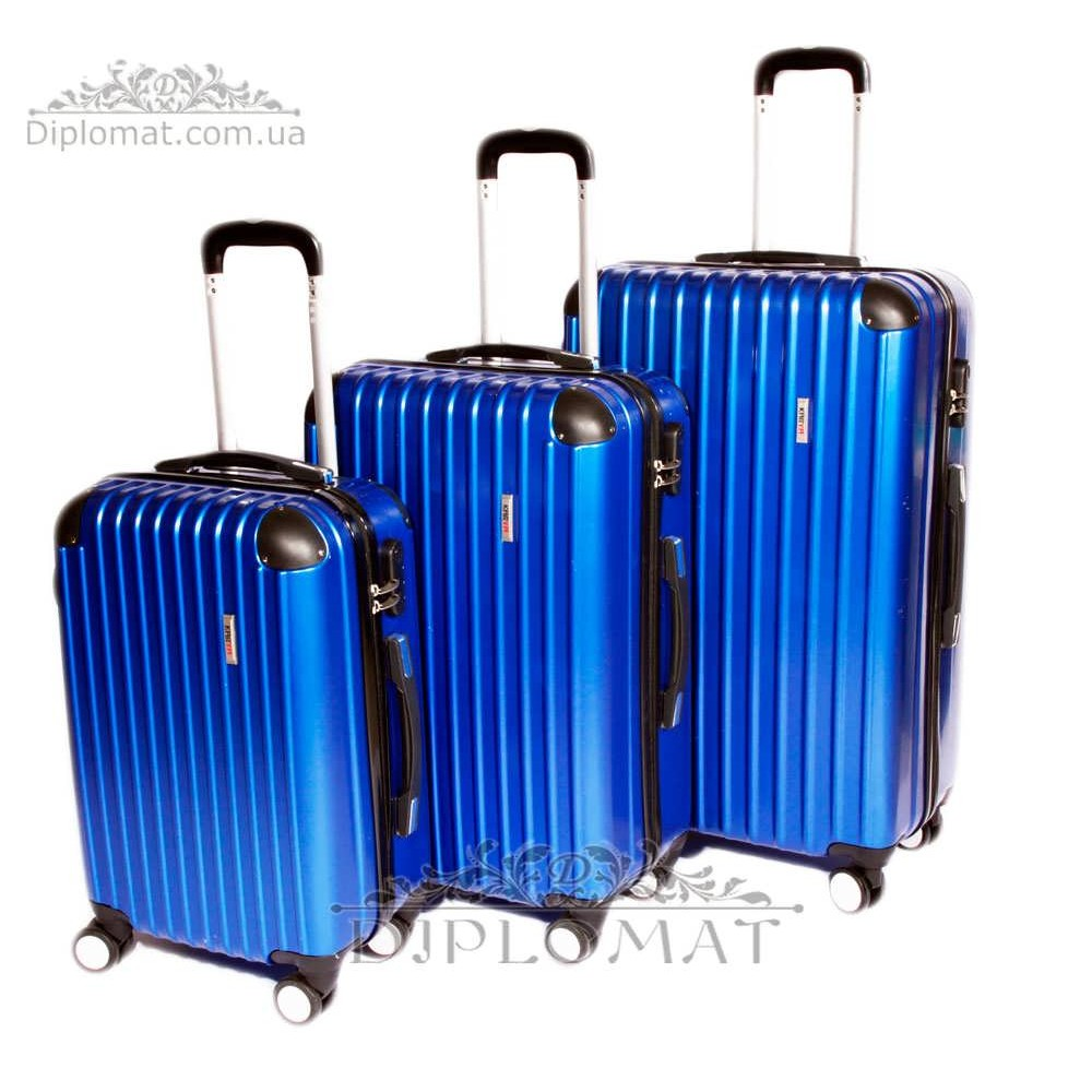 Чемодан дорожный KARYA Suitcase BIG PLASTIC BLUE