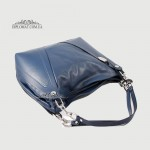 Сумка Женская Кожаная Ручка на плечо Кожаная с цепочкой BELLINI Monteriggioni V0033  BLUE smooth Синий