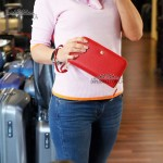 Кошелек Клатч на молнии из натуральной кожи TERGAN 5734 KIRMIZI FLOATER Красный