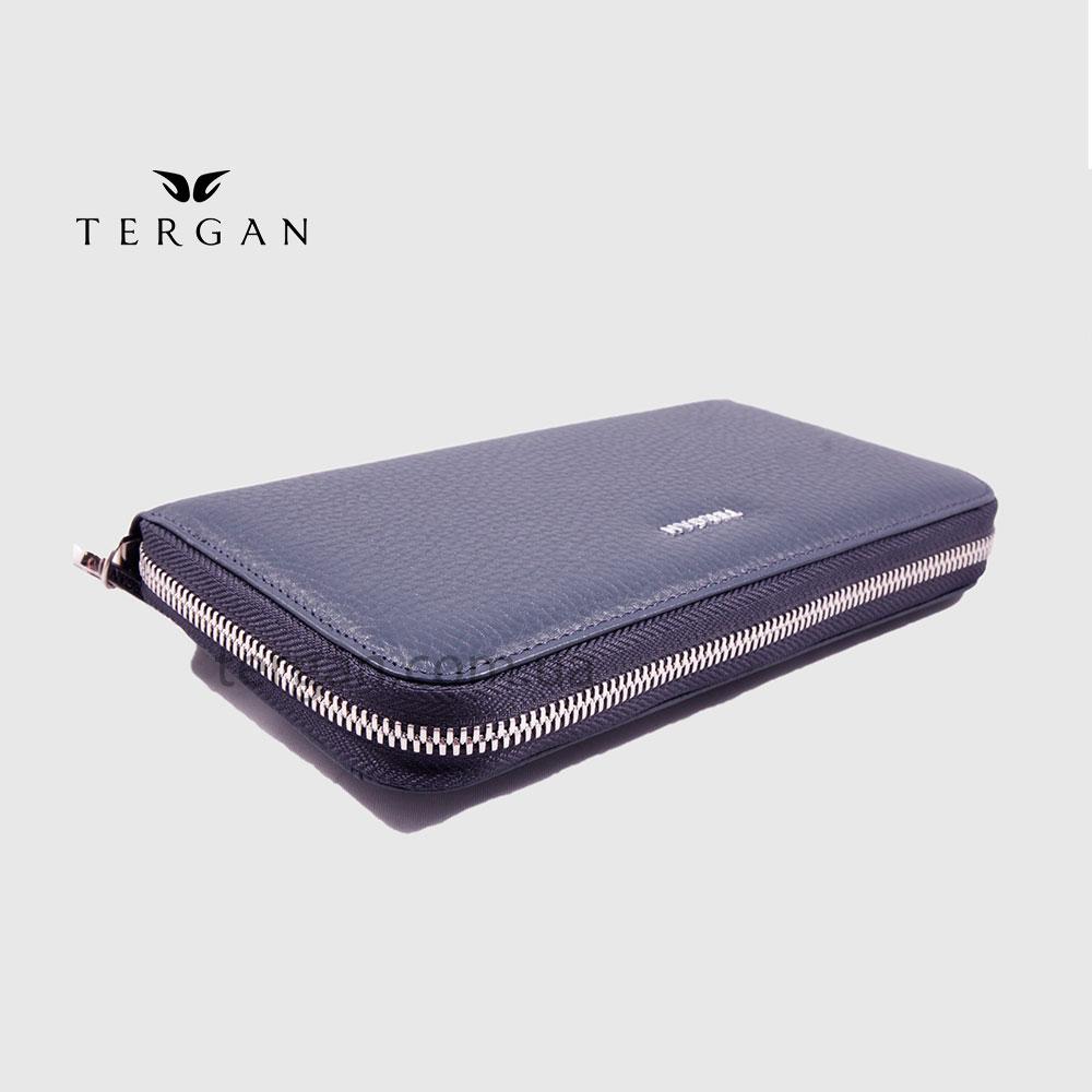Кошелек Клатч на молнии из натуральной кожи TERGAN 5734   LACIVERT FLOATER Темно Синий