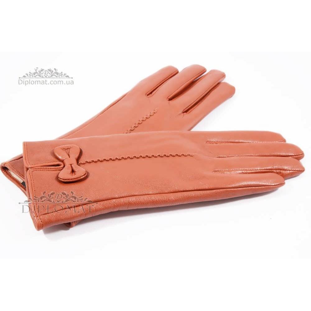 Перчатки женские HARMON 2097C ПП КоричневыйSMOOTH SKIN size 6,5