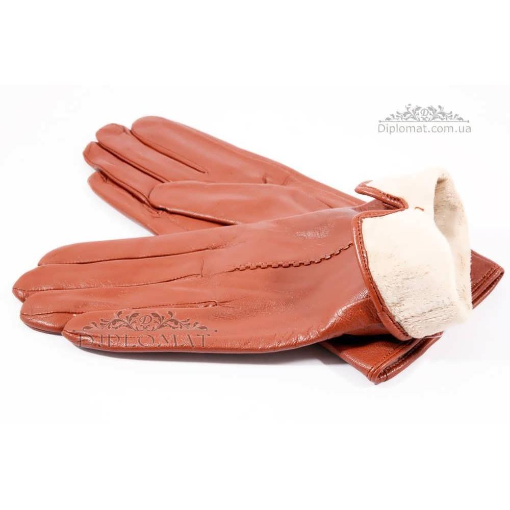 Перчатки женские HARMON 2097C ПП КоричневыйSMOOTH SKIN size 8,5