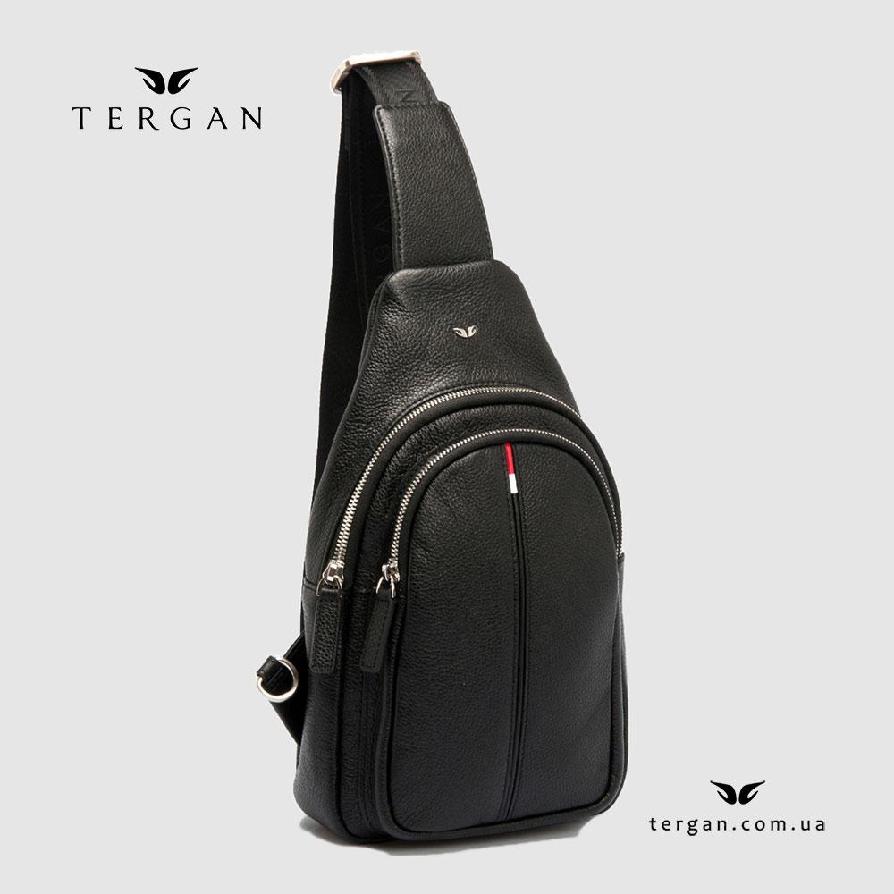 Сумка-Рюкзак через плечо TERGAN 21401 Кожаный SIYAH LATIGO Черный