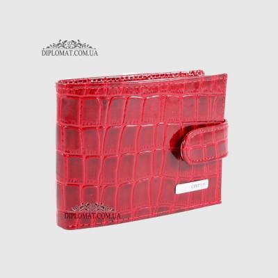 Визитница кожаная для дисконтных карт KARYA 054 08 Красный