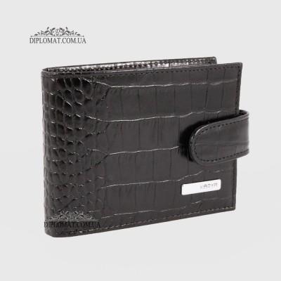 Визитница кожаная для дисконтных карт KARYA 054 53 Черный Крокодил