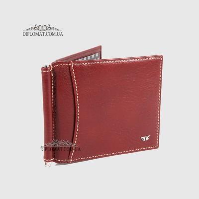 Зажим для денег TERGAN 1399 Кожаный с отделением на 10 карт22TABA VEGETAL Темно коричневый