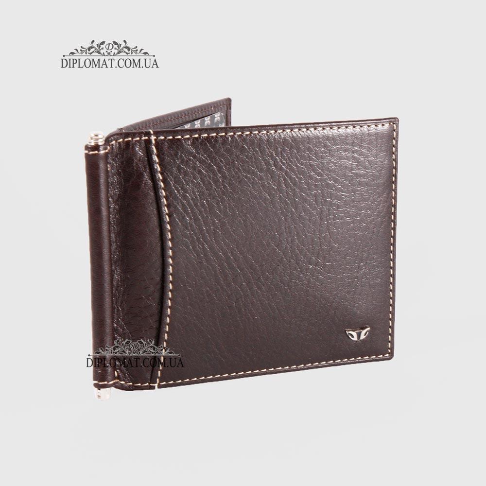 Зажим для денег Кожаный с отделением на 10 карт TERGAN 1399  KAHVE VEGETAL Коричневый