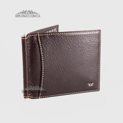 Зажим для денег TERGAN 1399 Кожаный с отделением на 10 картKAHVE VEGETAL Коричневый