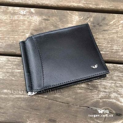 Зажим для денег TERGAN 1399 Кожаный с отделением на 10 картSIYAH VEGETAL Черный