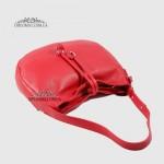 Сумка На плечо Женская  Кожаная Средняя BELLINI Cetina V0042  RED floater Красный/Розовый