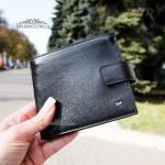Мужское портмоне для денег с монетницей TERGAN 1557  SIYAH VEGETAL Черное
