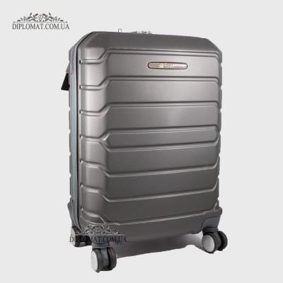Чемодан поликарбонат на колесах GUARD 010603 Calanthe D.GREY / СерыйМаленький 21*50*33 cm 2,47 кг