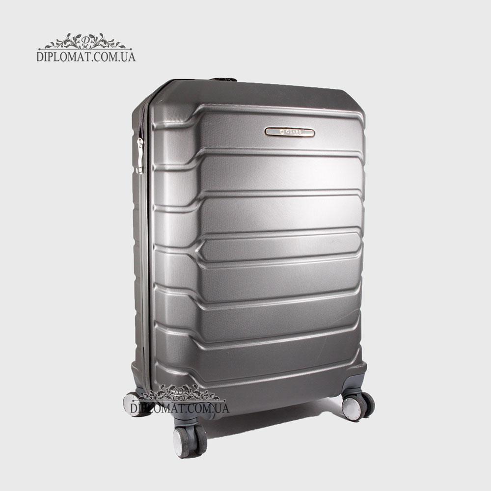 Чемодан поликарбонат на колесах GUARD 010603 Calanthe D.GREY / Серый Средний 25*65*41cm 3,41 кг