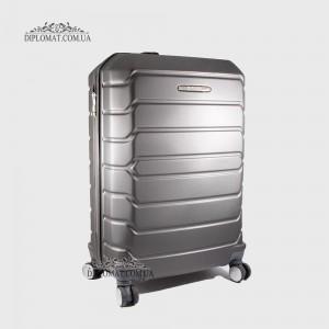 Чемодан поликарбонат на колесах GUARD 010603 Calanthe D.GREY / СерыйСредний 25*65*41cm 3,41 кг