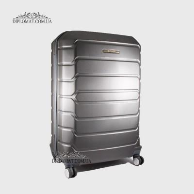Чемодан поликарбонат на колесах GUARD 010603 Calanthe D.GREY / СерыйБольшой 21*50*33 cm 4,24 кг