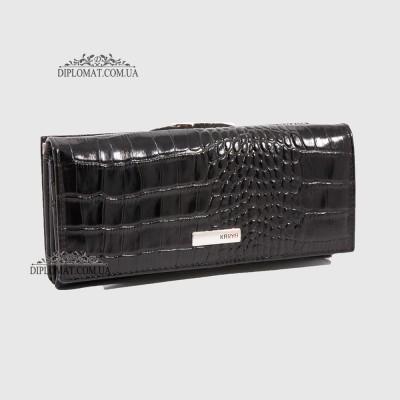 Кошелек женский KARYA 1090 53 Черный Крокодил