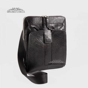 Сумка мужская TONY BELLUCCI T-5058 Кожаная Через плечо Небольшого размера 893 BLACK
