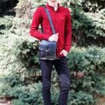 Сумка мужская TONY BELLUCCI T-5066 894 Темно Синий Кожаная с ремнем через плечо