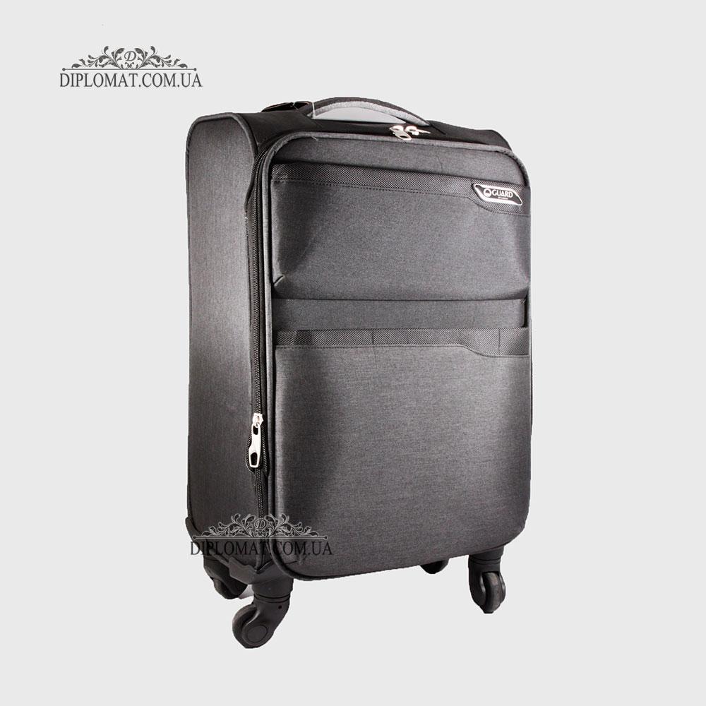 Чемодан текстильный на колесах GUARD 010625 Calypso BLACK Черный Маленький 21*50*33 cm 2,47 кг