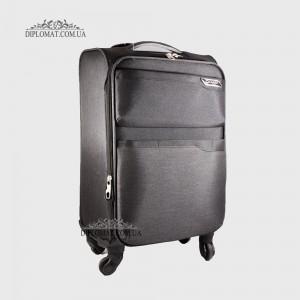 Чемодан текстильный на колесах GUARD 010625 Calypso BLACK ЧерныйМаленький 21*50*33 cm 2,47 кг