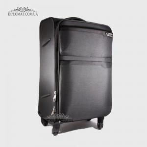 Чемодан текстильный на колесах GUARD 010625 Calypso BLACK ЧерныйСредний 25*65*41cm 3,41 кг