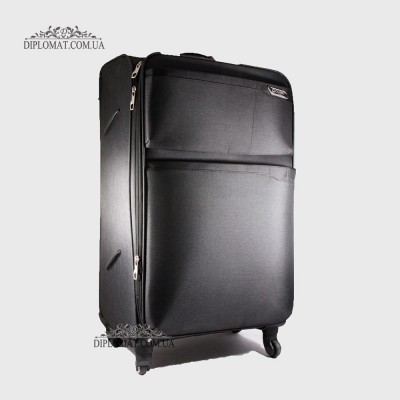 Чемодан текстильный на колесах GUARD 010625 Calypso BLACK ЧерныйБольшой 21*50*33 cm 4,24 кг