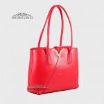 Сумка Женская на плечо Кожаная GUARD 578 Valentinno  KIRMIZI FLOATER Красный/Розовый