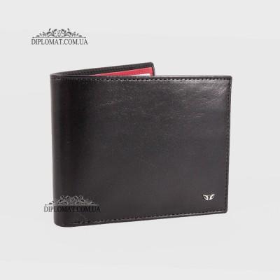Портмоне мужское TERGAN 1464 для карточек и денег из натуральной кожи SIYAH RUSTIC/KIRMIZI RUSTIC