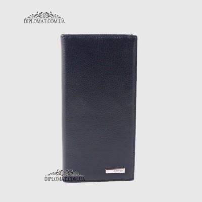db6185a8a8b3 Кошелек для телефона мужской из натуральной кожи на магните KARYA 1097 44  D.Blue