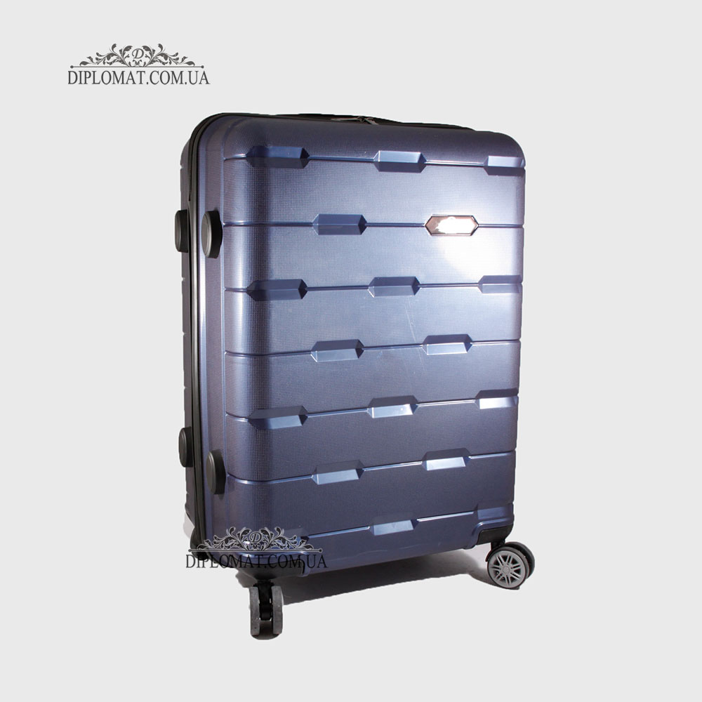 Чемодан поликарбонат на колесах GUARD 010603 Laсk INDIGO / Синий Средний 25*65*41cm 3,41 кг