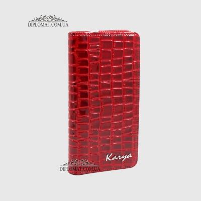 Кошелек на молнии KARYA 1126 с отделением для телефона и денег08 Красный