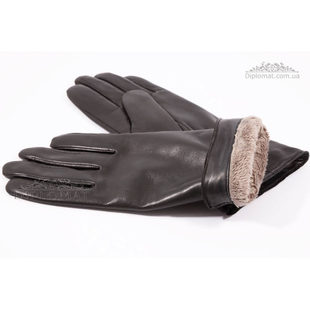 Перчатки женские HARMON 333 ПП ЧерныйSMOOTH SKIN size 7,5