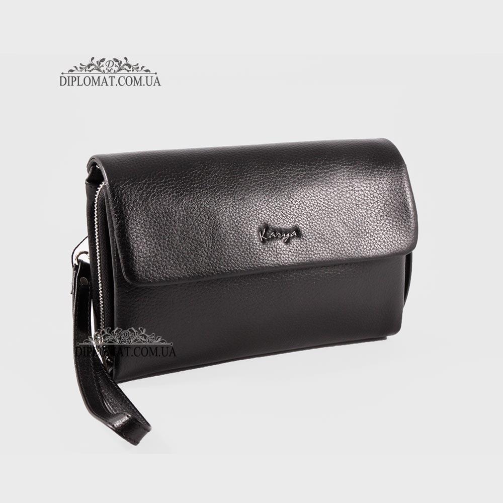 Клатч мужской кожаный с ручкой сбоку KARYA 0361 45 Черный
