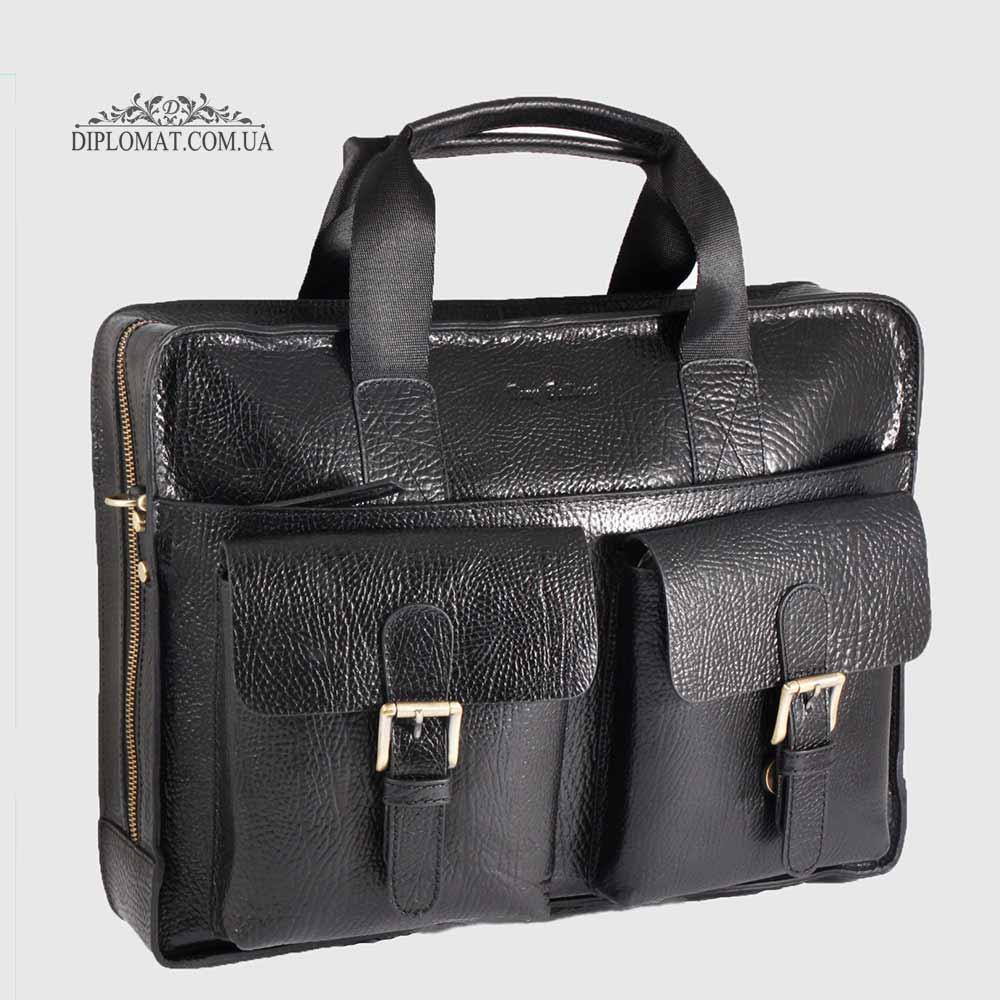 Сумка кожаная TONY BELLUCCI T-5078 для ноутбука 893 BLACK Черный