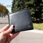 Мужское портмоне кожаное для денег и 9 карточек TERGAN 1254  SIYAH VEGETAL Черный