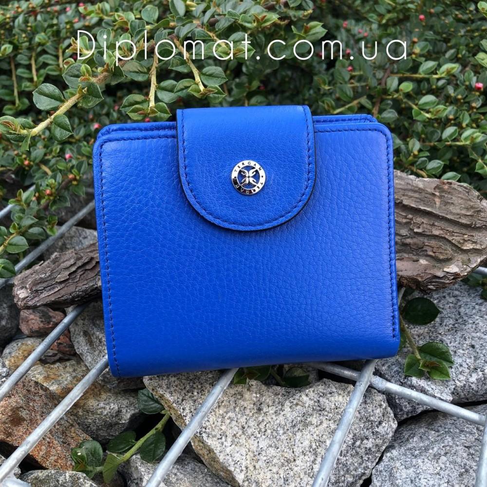 Портмоне женское TERGAN 5674 Кожаное на кнопке  SAKS MAVI ARSEL Синий