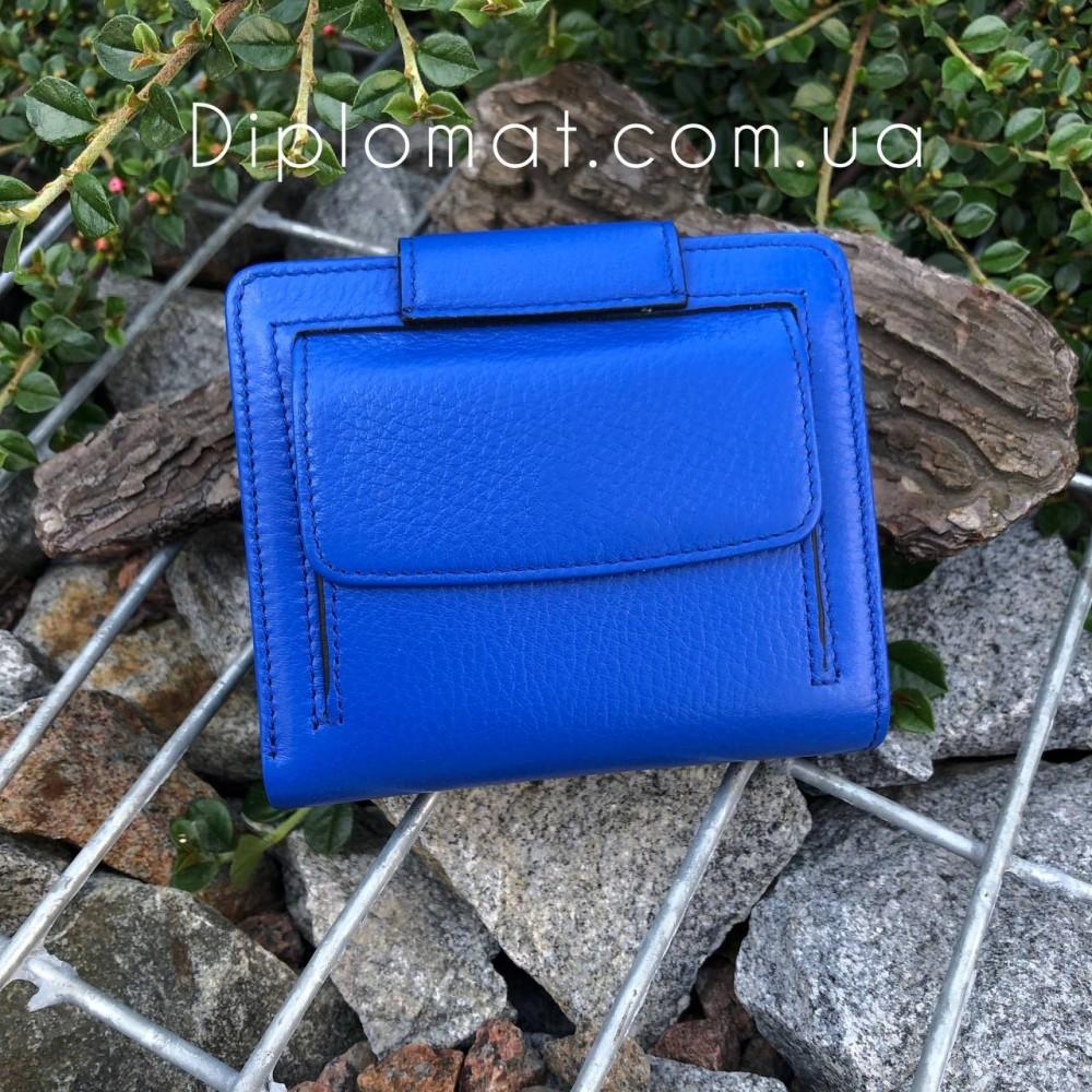Портмоне женское Кожаное на кнопке TERGAN 5674  SAKS MAVI ARSEL Синий
