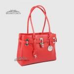 Сумка Женская Кожаная Средняя BELLINI Firenze 8221  DARK RED floater Красный/Розовый