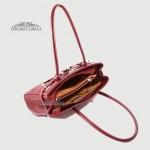 Сумка Женская Кожаная Средняя BELLINI Firenze 8221  BURGUNDI floater Бордовый/Пурпурный