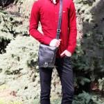 Сумка мужская TONY BELLUCCI T-5079 893 Черный Кожаная Через плечо Средняя