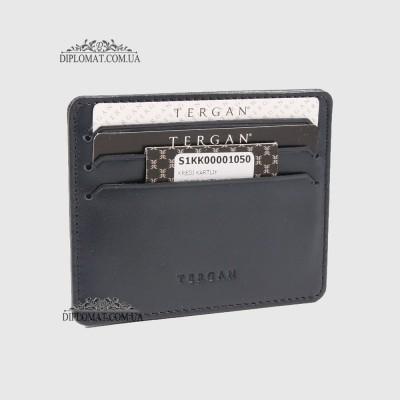 Кожаный Картхолдер Кредитница TERGAN 1050 LACIVERT RUSTIC Синий