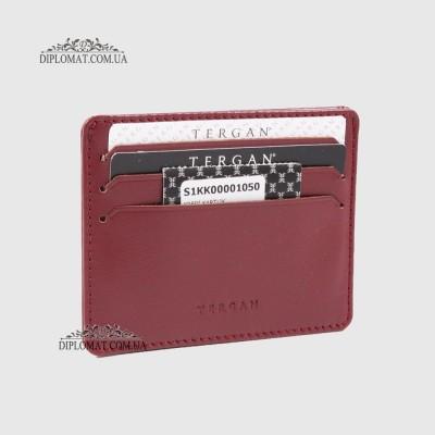 Кожаный Картхолдер Кредитница TERGAN 1050 BORDO RUSTIC