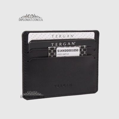 Кожаный Картхолдер Кредитница TERGAN 1050 SIYAH RUSTIC Черный