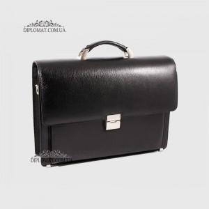 Портфель кожаный мужской на два отделения с планшетом KARYA 0144 45 Черный