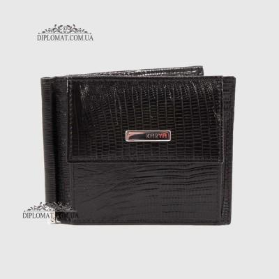 Зажим для денег KARYA 0460 076 Черный Рептилий