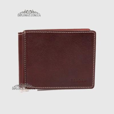 Зажим для денег TERGAN 1507  из натуральной кожи22TABA VEGETAL Темно коричневый