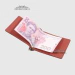 Зажим для денег из натуральной кожи TERGAN 1507  22TABA VEGETAL;
