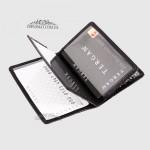 Обложка кожаная для ID паспорта TERGAN 1601  SIYAH FLAMINGO ROLAX