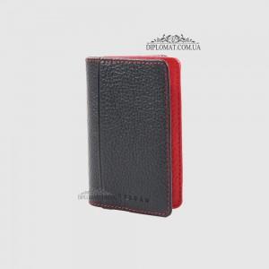 Обложка кожаная для ID паспорта TERGAN 1601 LACIVERT ROLAX / KIRMIZI ROLAX